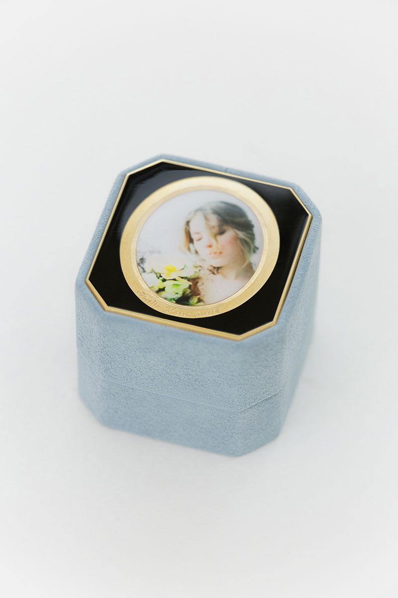 Bark-and-Berry-Grand-Grace-octagon-vintage-wedding-embossed-individual-monogram-velvet-suede-ring-box-photo-enamel-guilloche-001