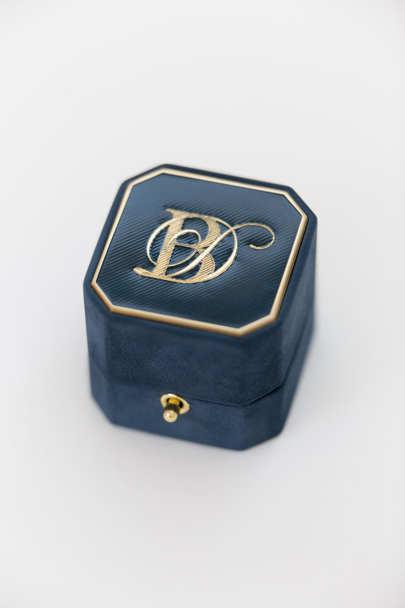 Bark-and-Berry-Grand-Nicholas-octagon-lock-vintage-wedding-embossed-individual-monogram-velvet-suede-ring-box-engraving-enamel-guilloche-001