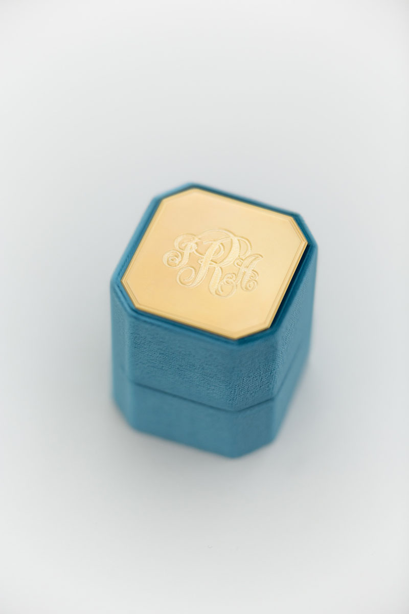 Bark-and-Berry-Petite-Peacock-octagon-vintage-wedding-embossed-individual-monogram-velvet-ring-box-enamel-guilloche-002
