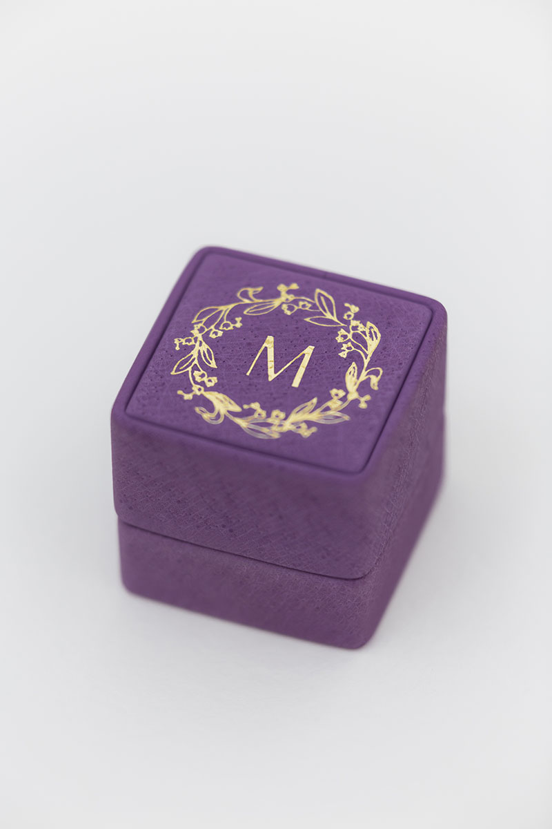 Bark-and-Berry-Grand-Bellflower-classic-vintage-wedding-embossed-individual-monogram-leather-velvet-ring-box-001