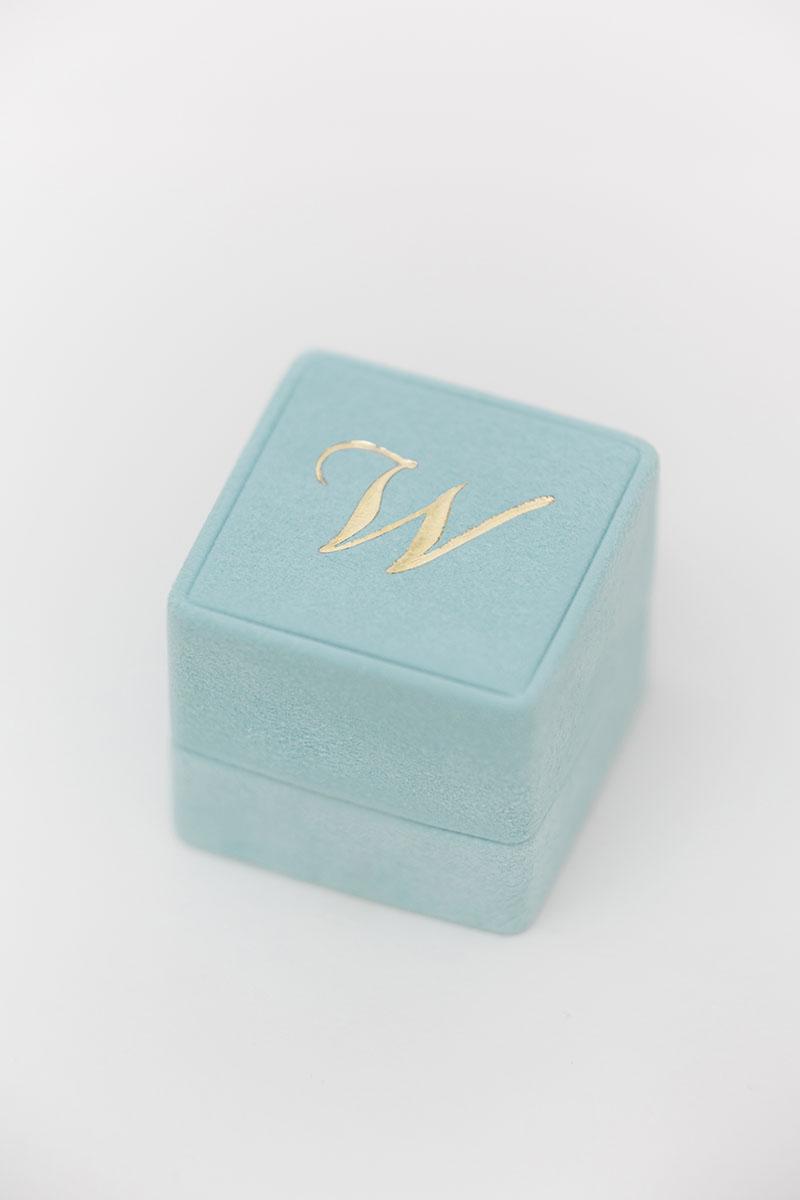 Bark-and-Berry-Grand-Lagune-classic-vintage-wedding-embossed-individual-monogram-suede-velvet-ring-box-001