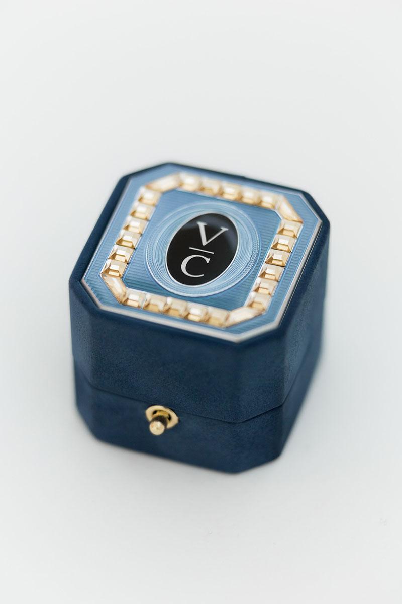 Bark-and-Berry-Grand-Nicholas-octagon-lock-vintage-wedding-embossed-double-monogram-suede-velvet-ring-box-enamel-guilloche-swarovski-001