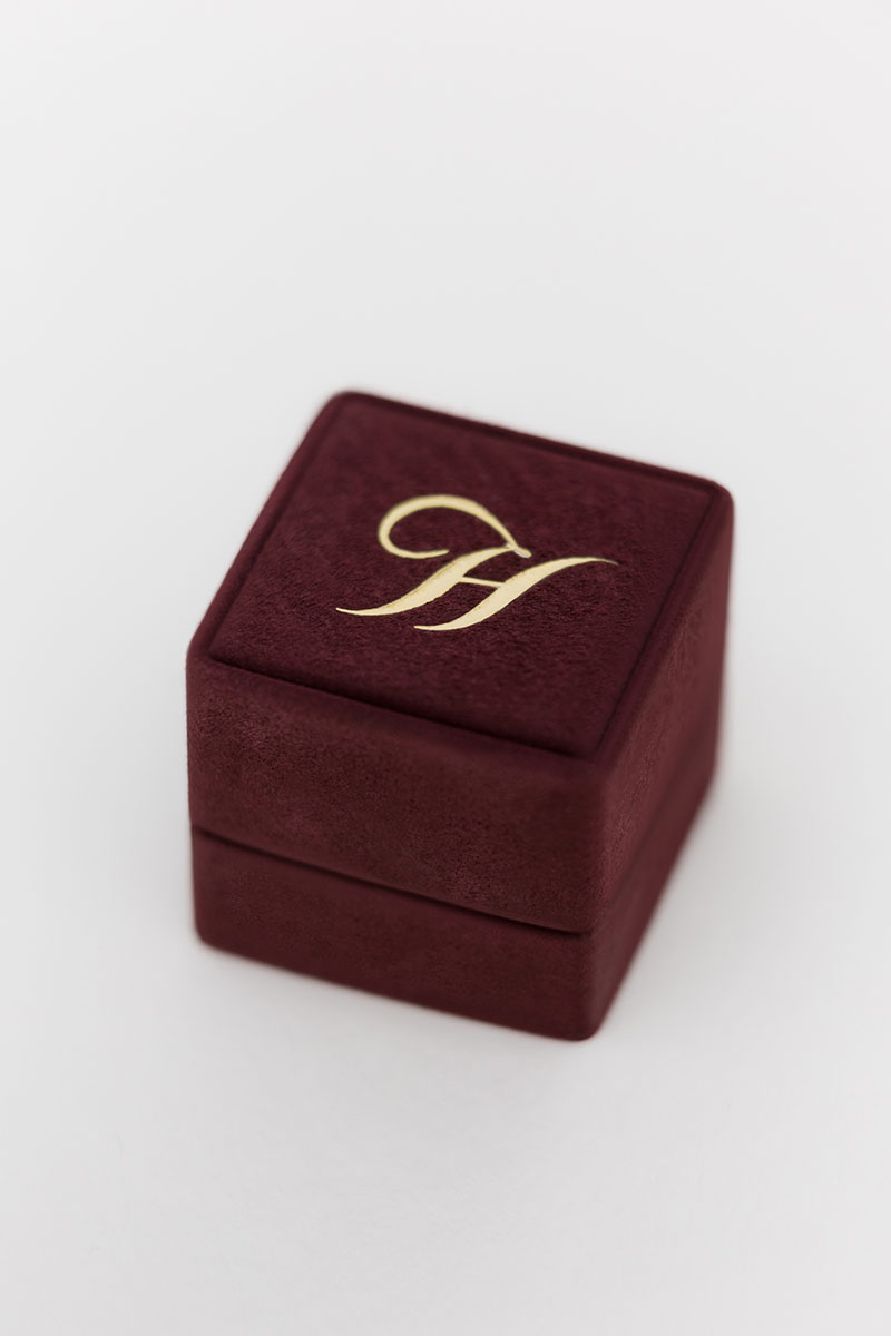 Bark-and-Berry-Grand-Victoria-classic-vintage-wedding-embossed-individual-monogram-suede-velvet-ring-box-001