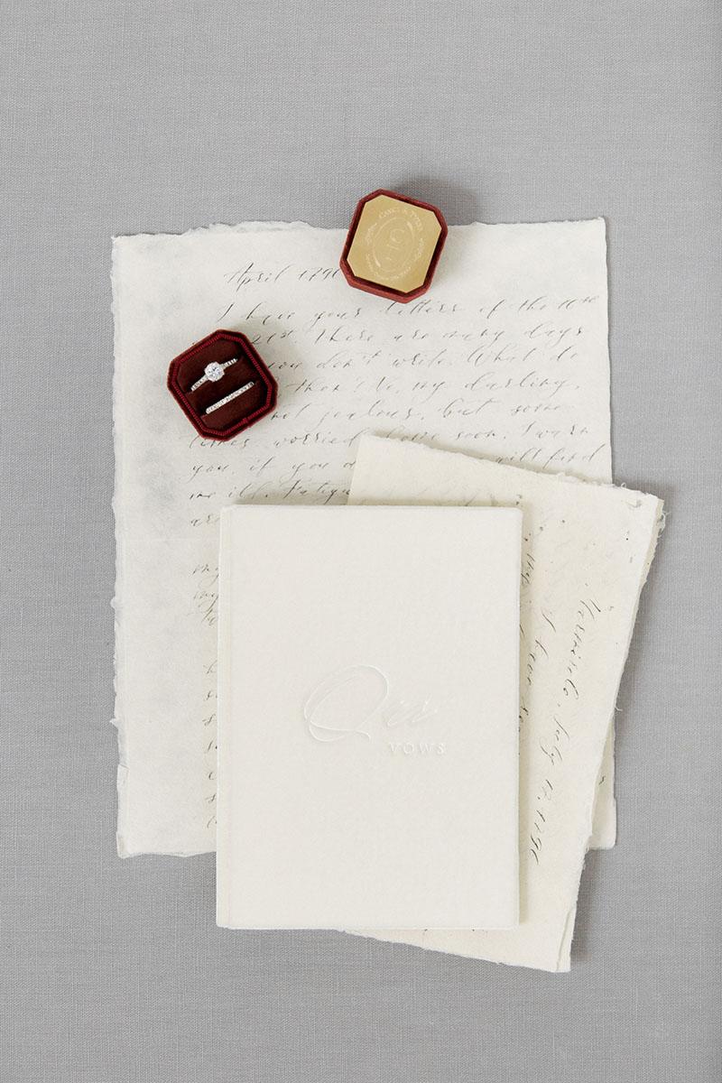 Bark-and-Berry-Ivory-vintage-velvet-wedding-embossed-monogram-vows-folder-book-10x15-003