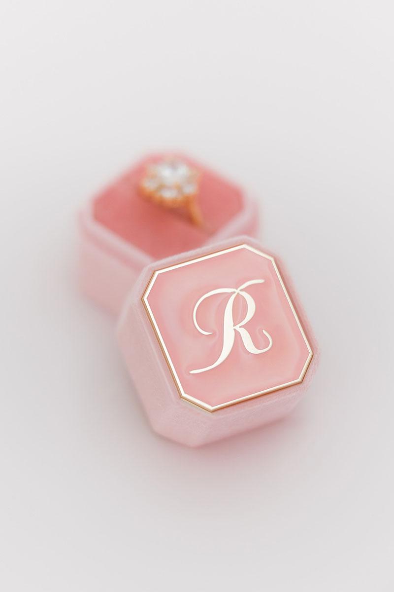 Bark-and-Berry-Petite-Blossom-octagon-vintage-wedding-embossed-individual-monogram-velvet-ring-box-enamel-001