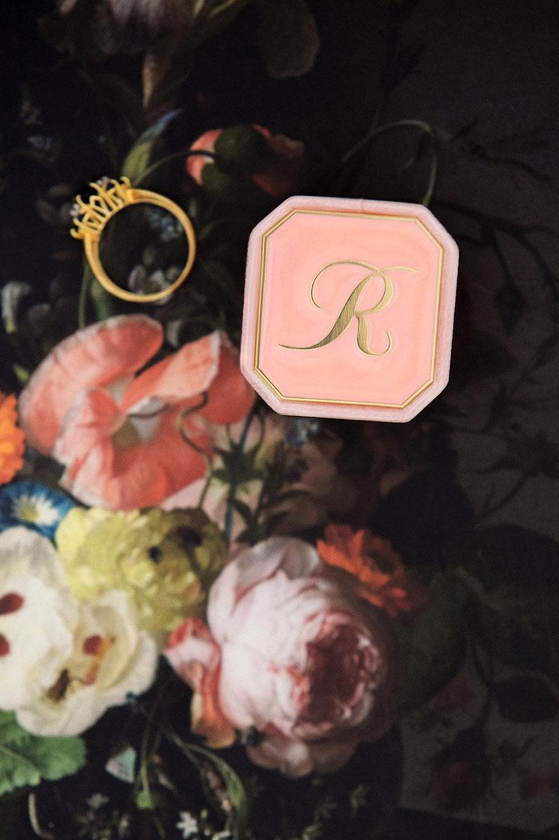 Bark-and-Berry-Petite-Blossom-octagon-vintage-wedding-embossed-individual-monogram-velvet-ring-box-enamel-002