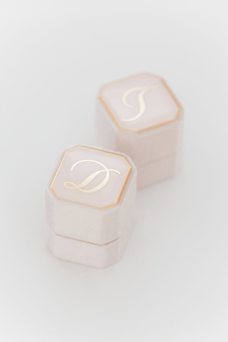 Bark-and-Berry-Petite-Blush-octagon-vintage-wedding-embossed-individual-monogram-velvet-ring-box-enamel-001-2