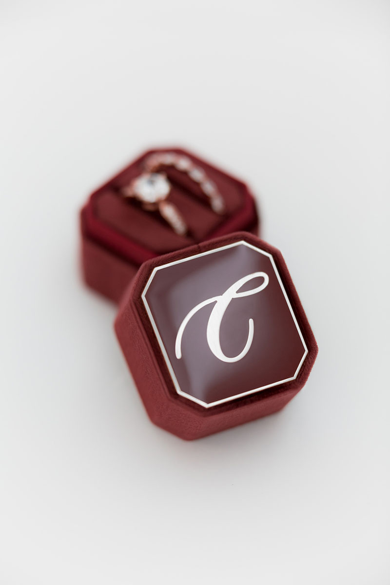 Bark-and-Berry-Petite-Wine-octagon-vintage-wedding-embossed-individual-monogram-velvet-ring-box-enamel-001