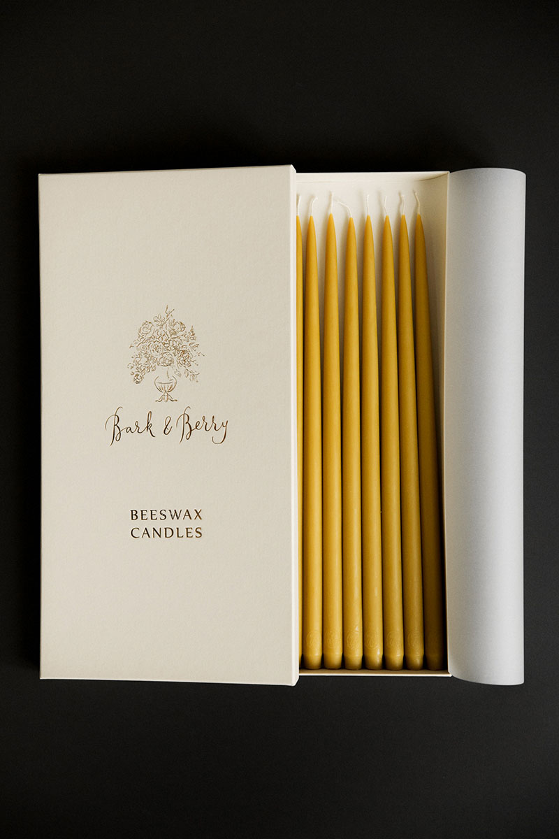 Bark-and-Berry-460-mm-Natural-Yellow-vintage-wedding-beeswax-handmade-artisan-taper-candles-gift-box001