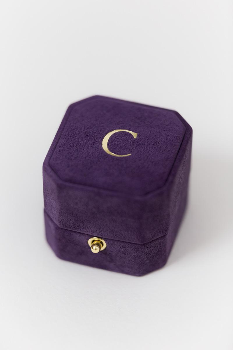 Bark-and-Berry-Grand-Bellflower-lock-octagon-vintage-wedding-engraved-embossed-engraved-enameled-individual-monogram-suede-velvet-ring-box-002