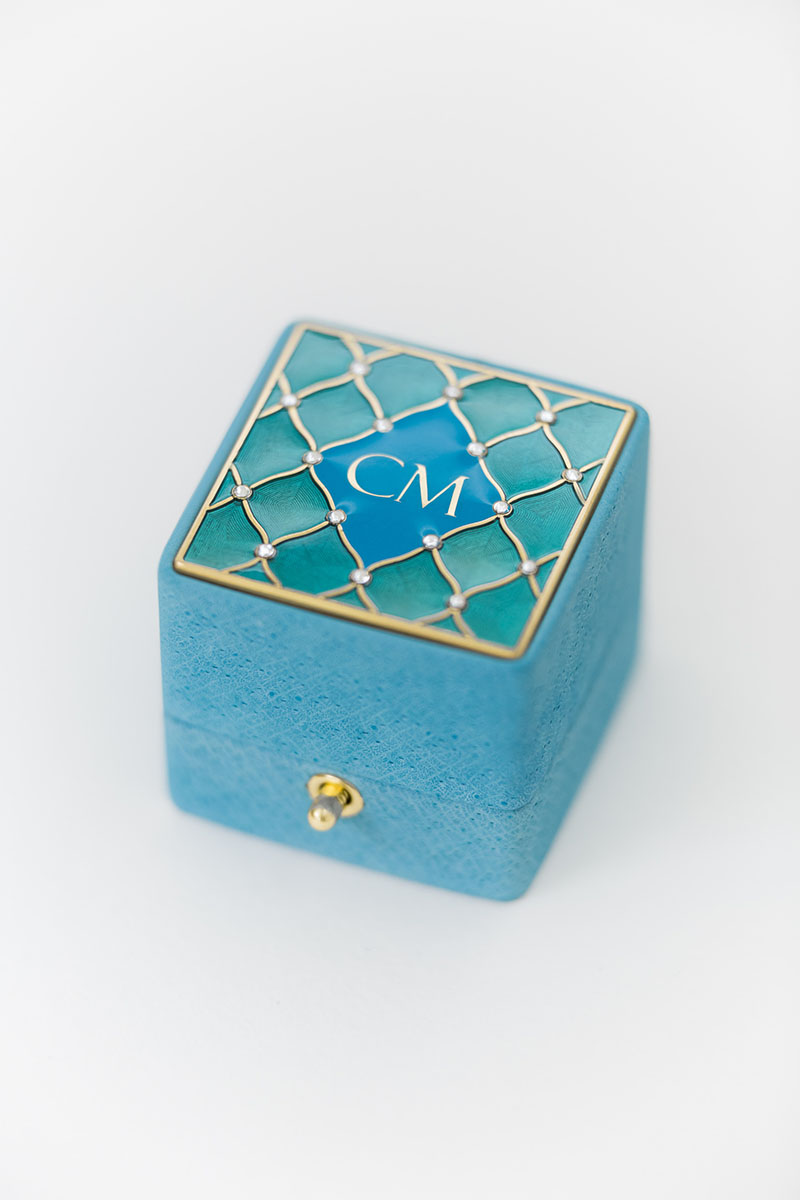 Bark-and-Berry-Grand-Cerulean-classic-lock-vintage-wedding-embossed-individual-monogram-velvet-leather-ring-box-enamel-guilloche-swarovski-crystals-002