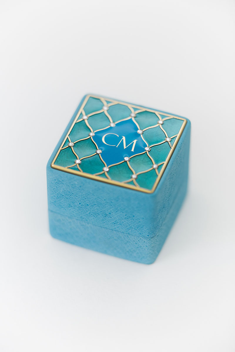 Bark-and-Berry-Grand-Cerulean-classic-vintage-wedding-embossed-individual-monogram-velvet-leather-ring-box-enamel-guilloche-swarovski-crystals-001