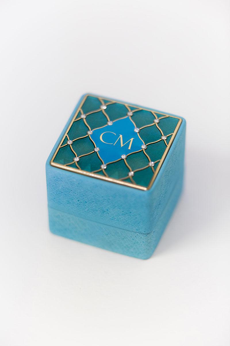 Bark-and-Berry-Grand-Cerulean-classic-vintage-wedding-embossed-individual-monogram-velvet-leather-ring-box-enamel-guilloche-swarovski-crystals-002