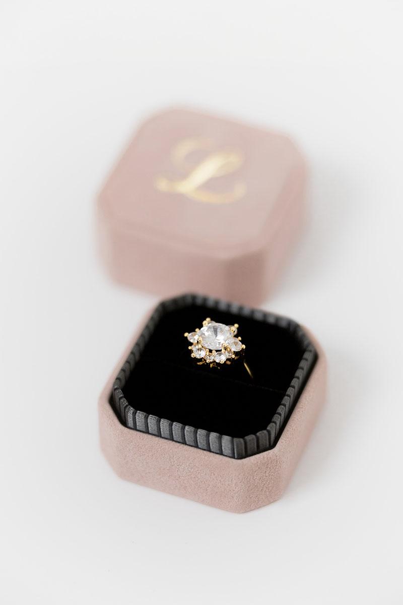 Bark-and-Berry-Grand-Diana-octagon-vintage-wedding-embossed-engraved-enameled-individual-monogram-velvet-suede-ring-box-001