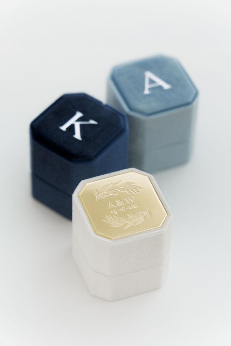 Bark-and-Berry-Petite-Ivory-Ocean-Lake-octagon-vintage-wedding-embossed-engraved-enameled-individual-monogram-velvet-ring-box-001