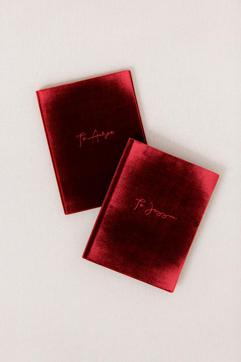 Bark-and-Berry-Garnet-vintage-velvet-wedding-embossed-monogram-vows-folder-book-13x18-002