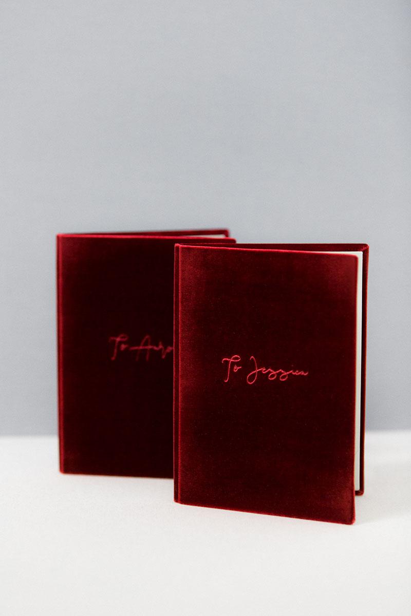 Bark-and-Berry-Garnet-vintage-velvet-wedding-embossed-monogram-vows-folder-book-13x18-005