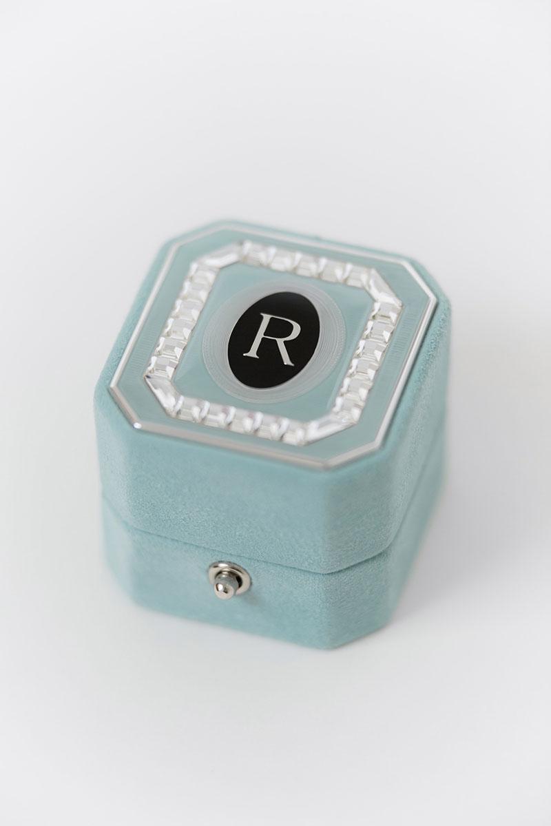 Bark-and-Berry-Grand-Lagune-lock-octagon-vintage-wedding-embossed-engraved-enameled-monogram-suede-velvet-ring-box-guilloche-swarovski-crystals-001
