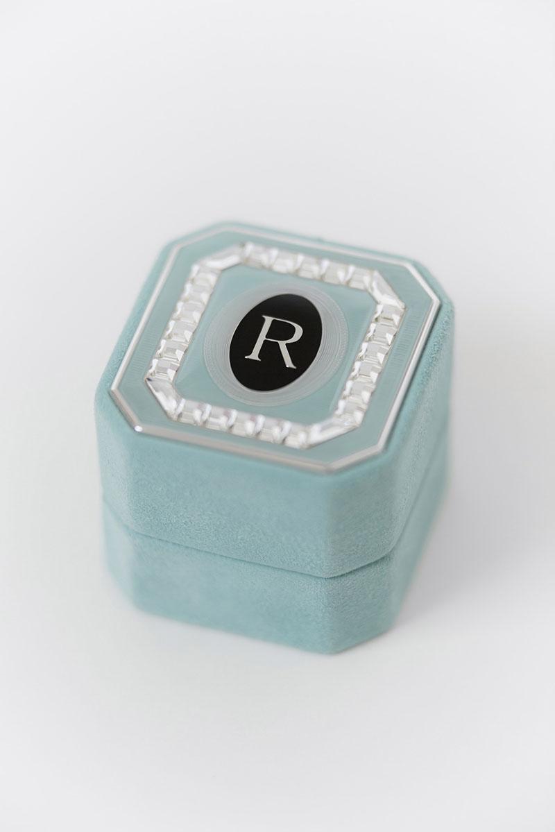 Bark-and-Berry-Grand-Lagune-octagon-vintage-wedding-embossed-engraved-enameled-monogram-suede-velvet-ring-box-guilloche-swarovski-crystals-001
