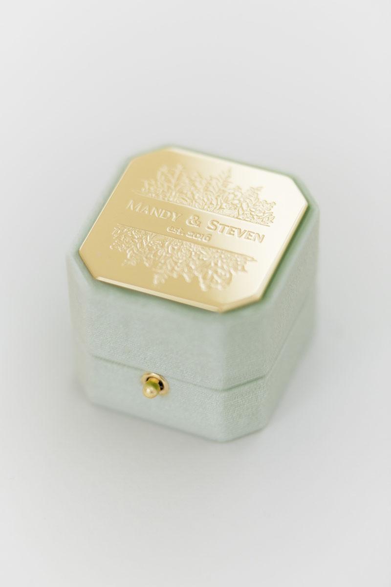 Bark-and-Berry-Grand-Ambrosia-lock-octagon-vintage-wedding-engraved-embossed-enameled-individual-monogram-velvet-ring-box-001