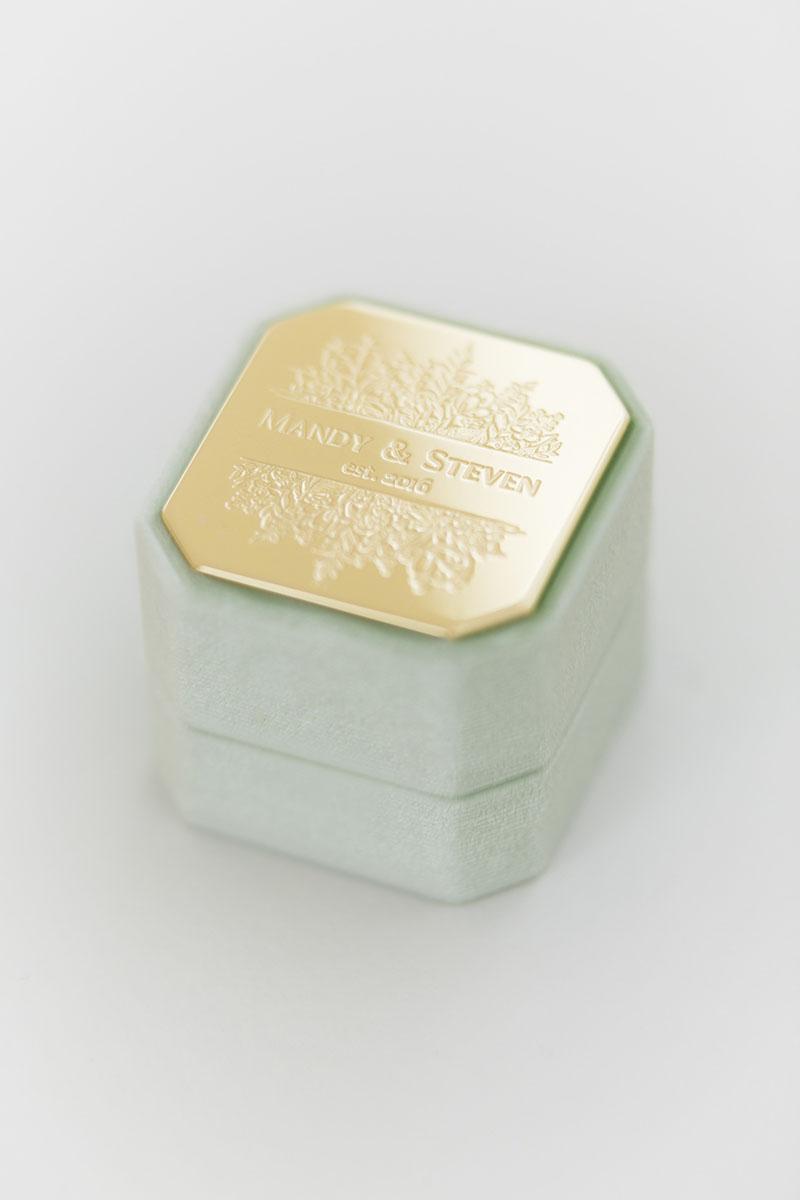 Bark-and-Berry-Grand-Ambrosia-octagon-vintage-wedding-engraved-embossed-enameled-individual-monogram-velvet-ring-box-001