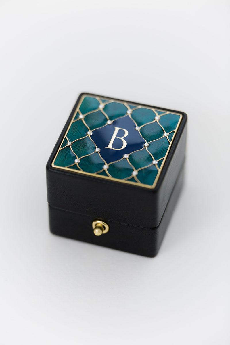 Bark-and-Berry-Grand-Ludovic-XIV-classic-lock-vintage-wedding-embossed-engraved-individual-monogram-velvet-leather-ring-box-enamel-guilloche-swarovski-crystals-008