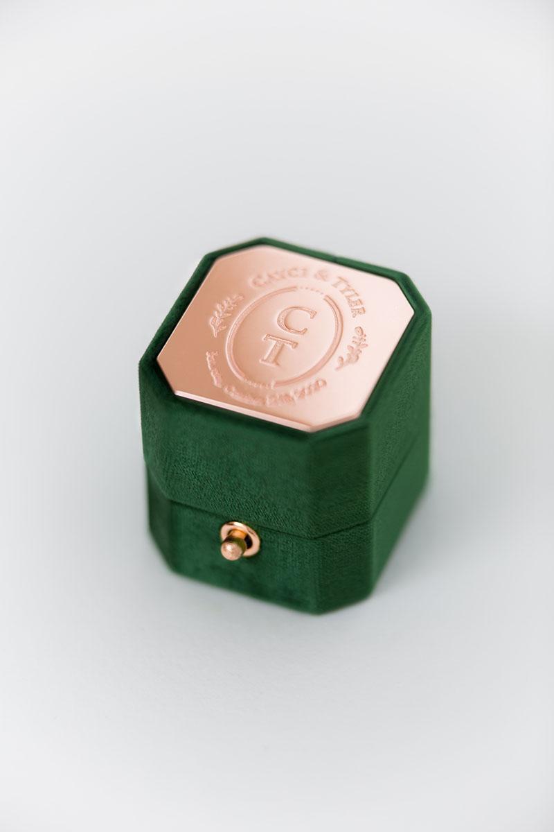 Bark-and-Berry-Petite-Eden-lock-octagon-vintage-wedding-engraved-embossed-enameled-individual-monogram-velvet-ring-box-002