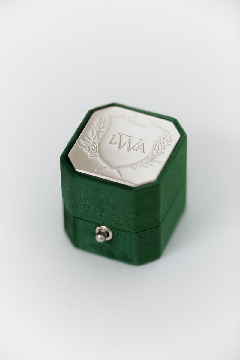 Bark-and-Berry-Petite-Eden-lock-octagon-vintage-wedding-engraved-embossed-enameled-individual-monogram-velvet-ring-box-003