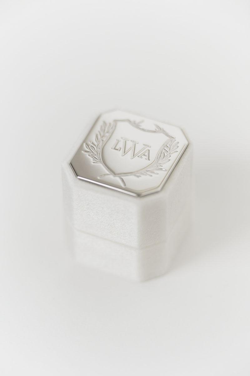 Bark-and-Berry-Petite-Ivory-octagon-vintage-wedding-embossed-engraved-enameled-individual-monogram-velvet-ring-box-005
