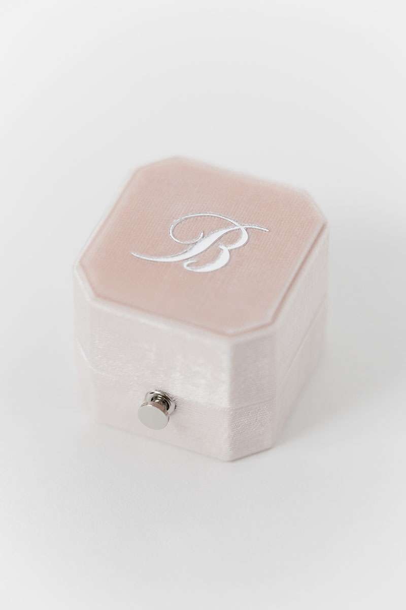 Bark-and-Berry-Grand-Blush-lock-octagon-vintage-wedding-engraved-embossed-enameled-individual-monogram-velvet-ring-box-003