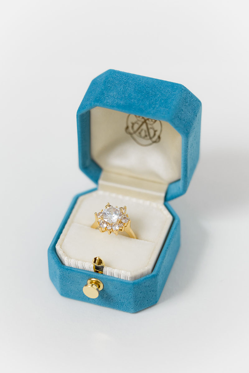 Bark-and-Berry-Grand-Cerulean-lock-octagon-vintage-wedding-engraved-embossed-engraved-enameled-individual-monogram-suede-velvet-ring-box-002