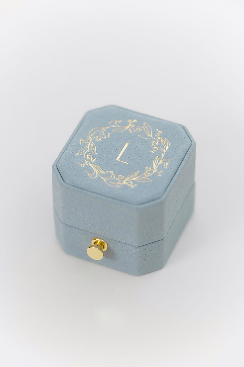 Bark-and-Berry-Grand-Grace-lock-octagon-vintage-wedding-embossed-engraved-enameled-individual-monogram-leather-velvet-ring-box-005