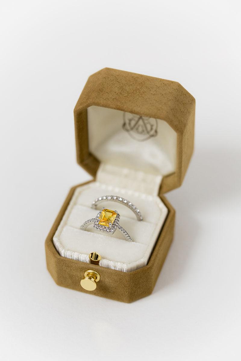Bark-and-Berry-Grand-Ochre-lock-octagon-vintage-wedding-engraved-embossed-engraved-enameled-individual-monogram-suede-velvet-ring-box-001