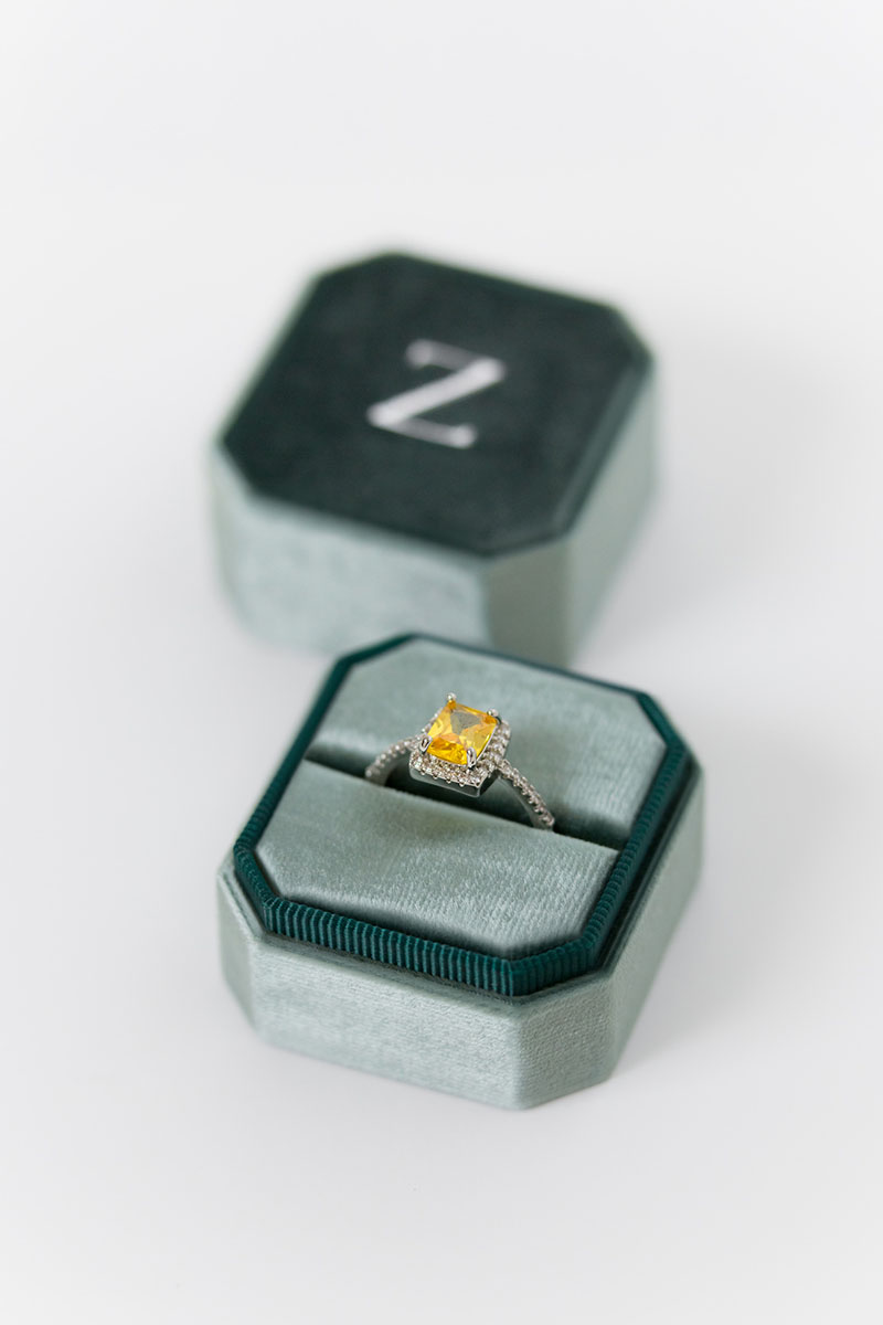 Bark-and-Berry-Grand-Spruce-octagon-vintage-wedding-engraved-embossed-enameled-individual-monogram-velvet-ring-box-001