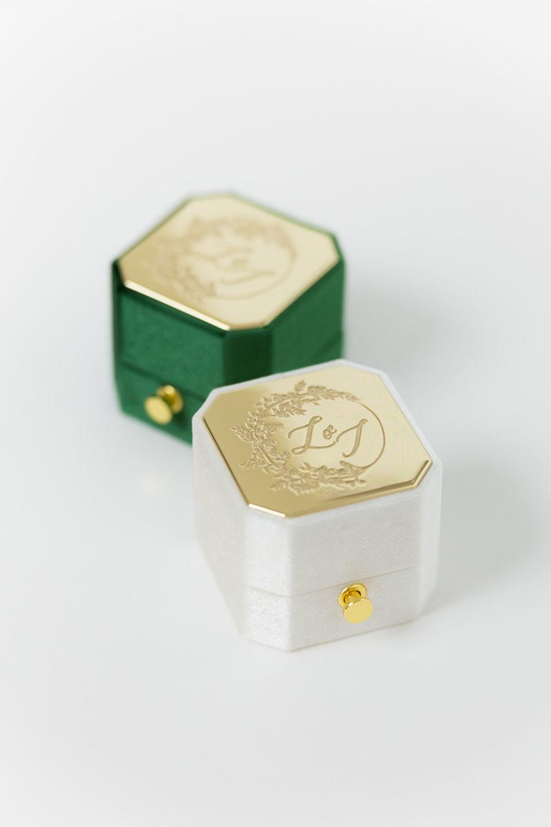Bark-and-Berry-Grand-Ivory-Eden-lock-octagon-vintage-wedding-engraved-embossed-enameled-individual-monogram-velvet-ring-box-001
