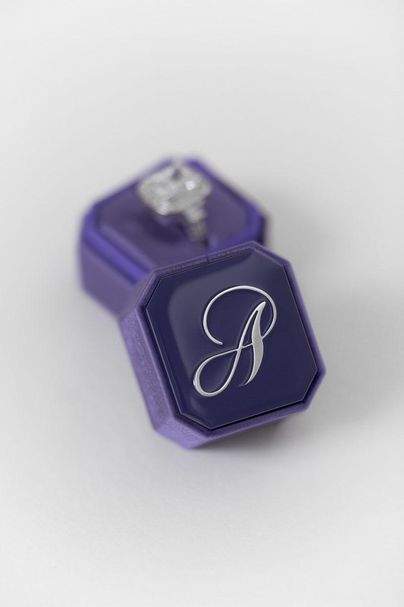 Bark-and-Berry-Petite-Iris-octagon-vintage-wedding-embossed-engraved-enameled-individual-monogram-velvet-ring-box-002