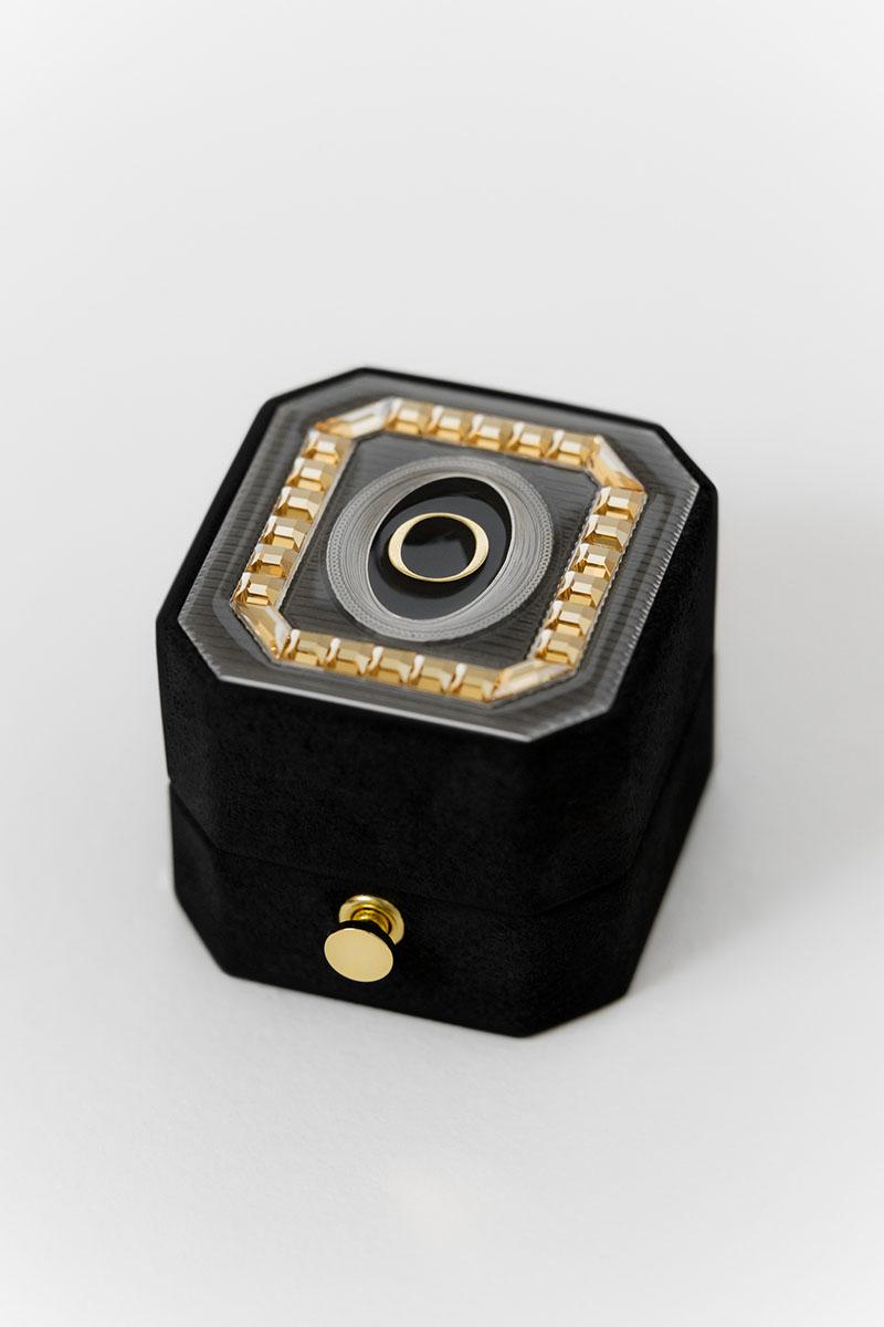 Bark-and-Berry-Grand-Ludovic-lock-octagon-vintage-wedding-embossed-engraved-enameled-monogram-suede-velvet-ring-box-guilloche-swarovski-crystals-001