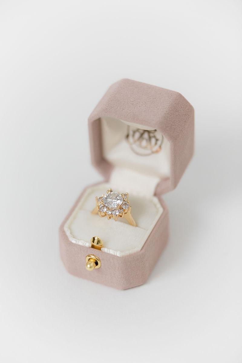 Bark-and-Berry-Petite-Diana-lock-octagon-vintage-wedding-embossed-engraved-enameled-monogram-suede-velvet-ring-box-001